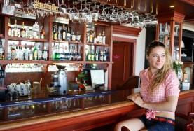 bar w restauracji z widokiem na morze- Mielno